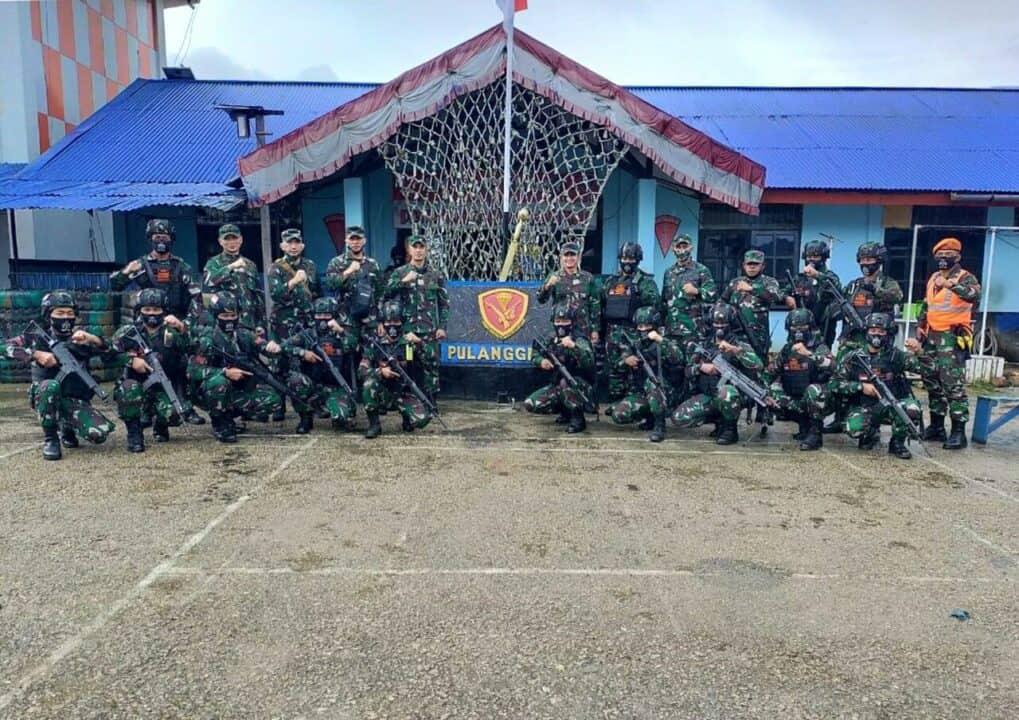 Satgas Pamrahwan Paskhas Terima Kunjungan Kerja Kasdam XVII/Cendrawasih