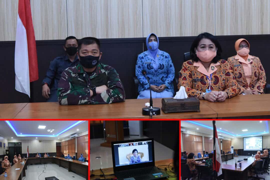 Yasarini Pengurus Cabang Lanud Roesmin Nurjadin Hadiri Acara Webinar SMA Pradita Dirgantara melalui Teleconference