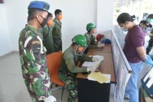 Danlanud Rsa Tinjau Posko Pengendalian Transportasi Udara di Bandara Raden Sadjad