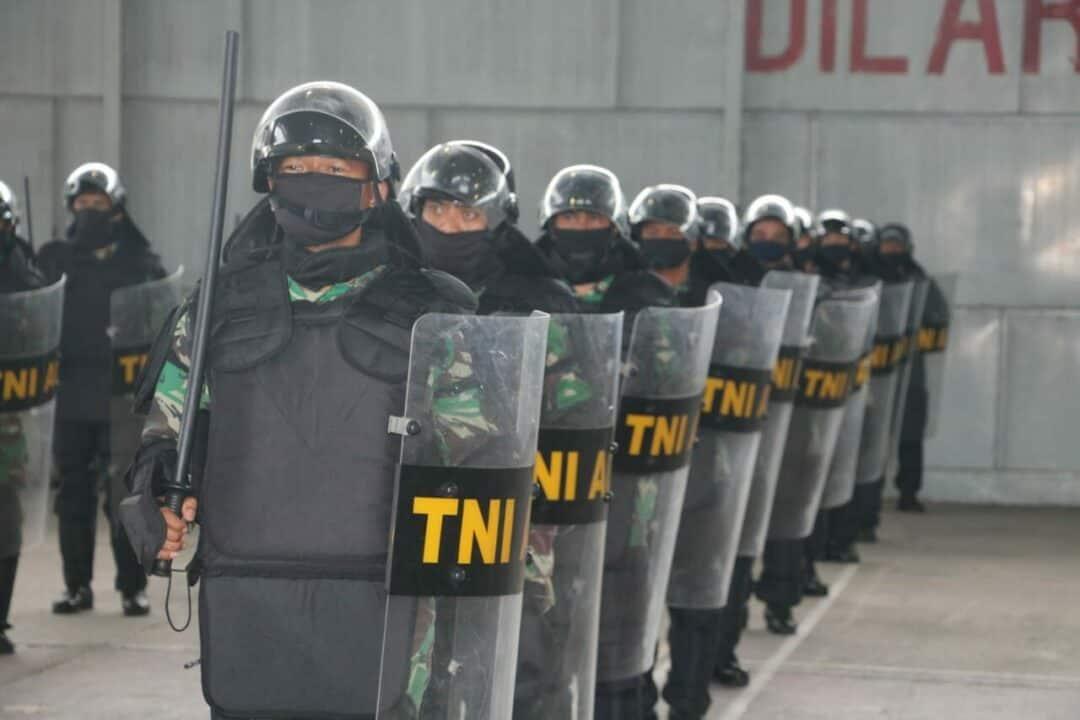Lanud Soewondo Gelar Latihan Pasukan Anti Huru Hara (PHH)