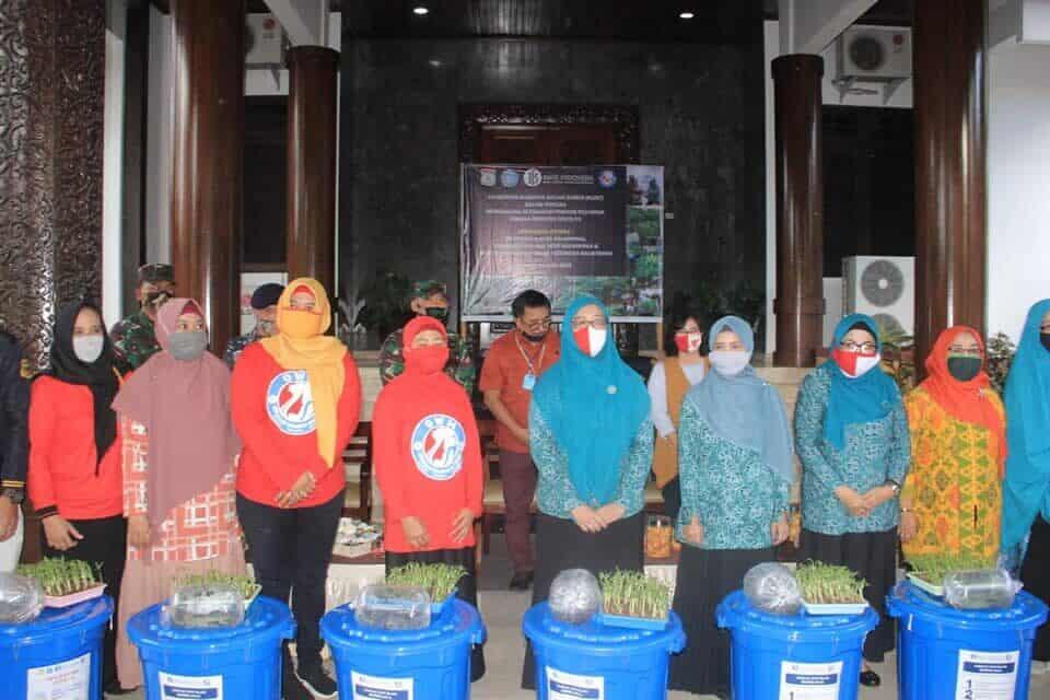 Komandan Lanud Dhomber Hadiri Launching Budidaya Dalam Ember (BUDE) Dalam rangka Mendukung Ketahanan Pangan Dimasa Pandemi Covid-19