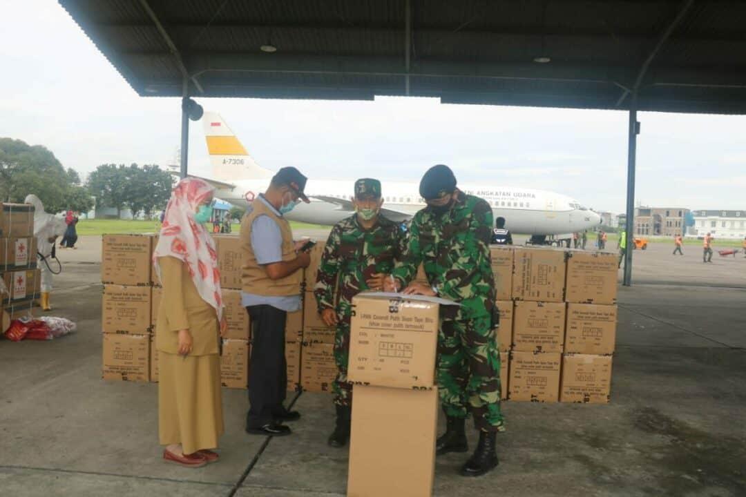 Lanud Soewondo kembali mendistribusikan alat-alat kesehatan tahap ke-12 kepada Dinas kesehatan Provinsi Sumatera Utara
