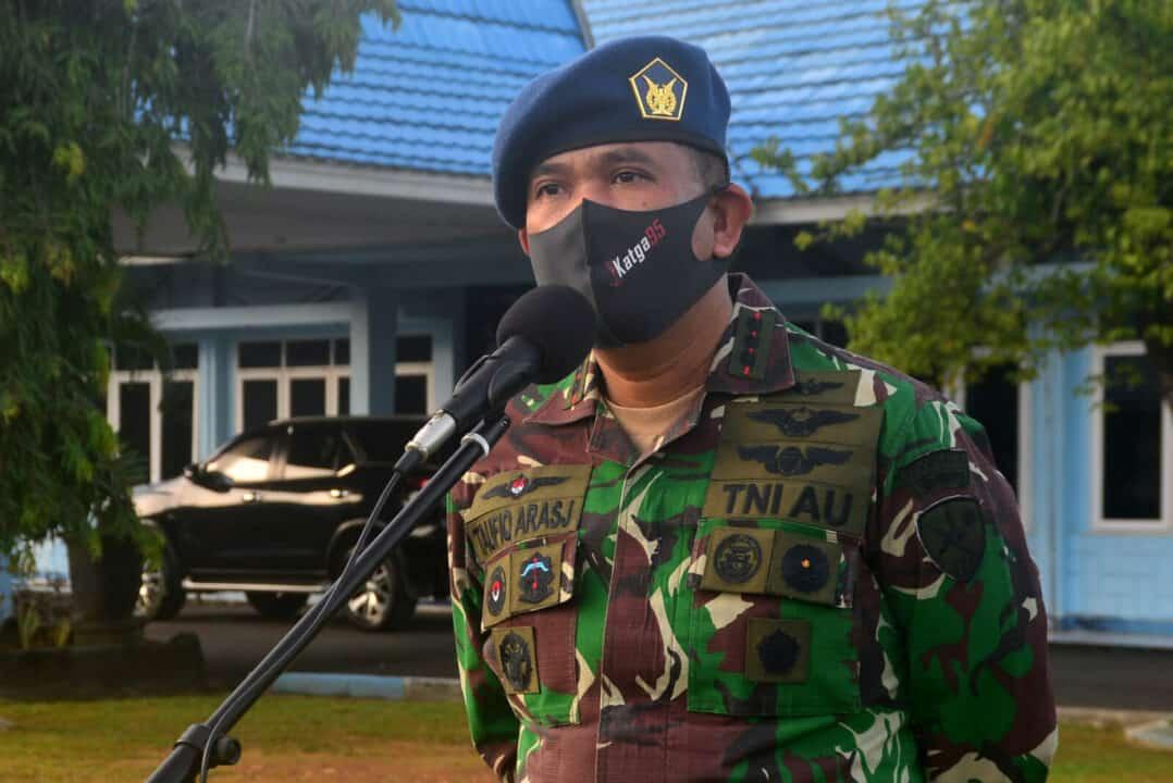 """Tingkatkan Disiplin dan Tetap Jaga Kesehatan Menuju """"New Normal"""" Untuk Pencegahan Covid-19 di Wilayah Lanud Sjamsudin Noor"""