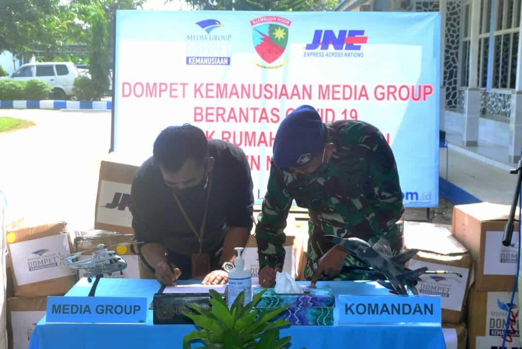 Brantas Covid -19, Dompet Kemanusiaan Media Group Salurkan Bantuan ke Rumah Sakit TNI AU Sjamsudin Noor