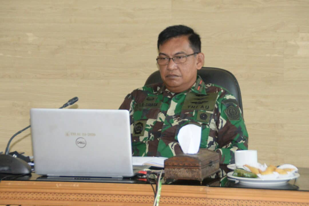 Pangkosekhanudnas III Vicon Bersama Kasau dan Jajaran TNI AU