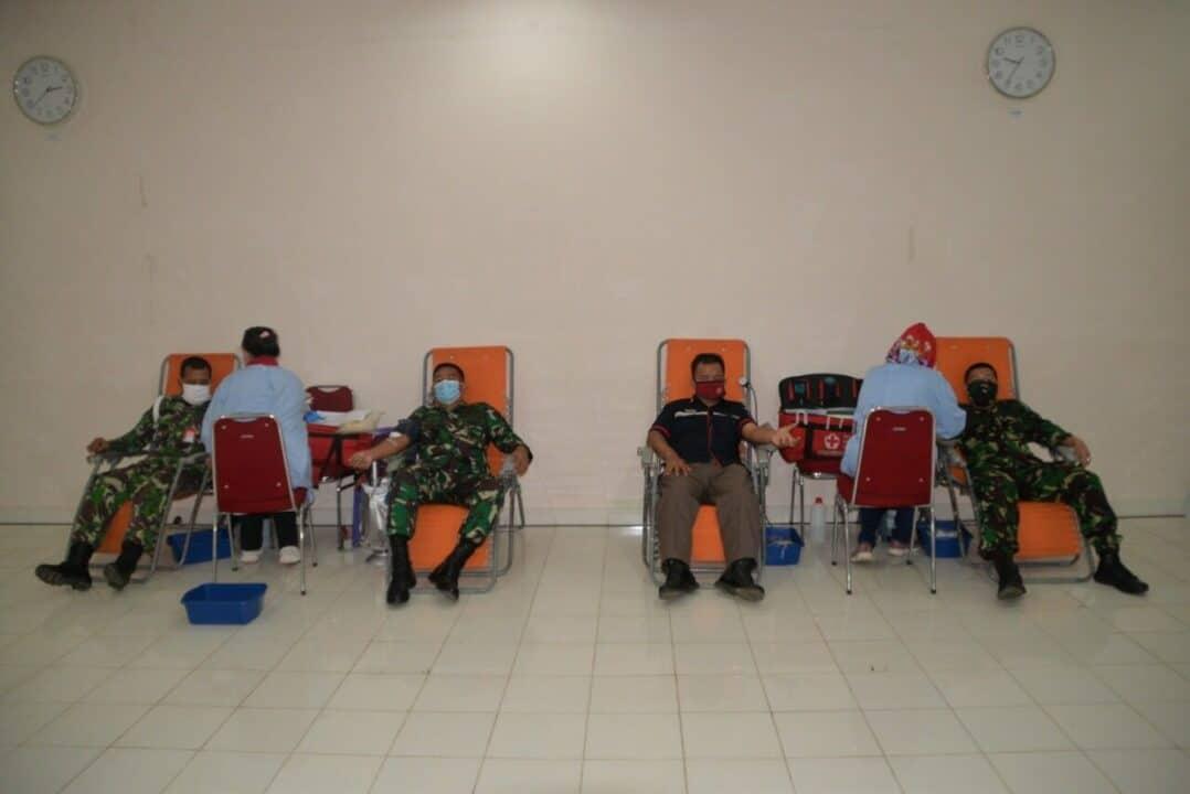Lanud Suryadarma Kembali Sumbangkan Darah ke PMI di Tengah Pandemi Covid-19