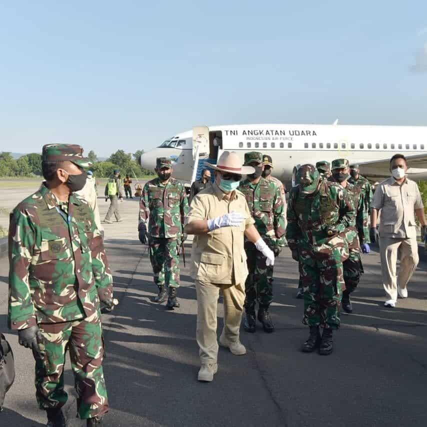 Danlanud Adisutjipto sambut kunjungan Menteri Pertahanan RI