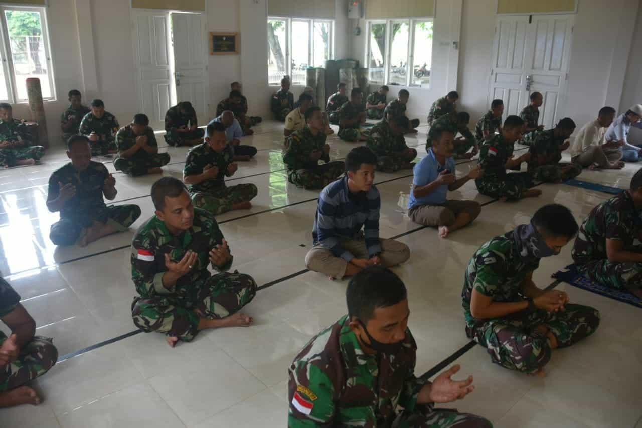 Diharapkan Wabah Covid-19 Cepat Berlalu dan Diberikan Keselamatan Dalam Pelaksanaan Tugas, Lanud Mus Gelar Doa Bersama.