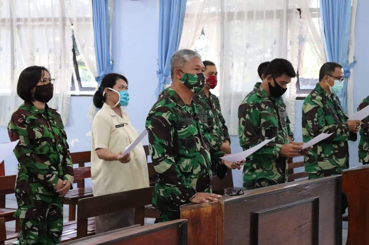 KOMANDO OPERASI TNI ANGKATAN UDARA II GELAR DOA BERSAMA