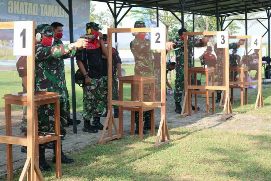 Perbakin Kabupaten Majalengka Bersama Lanud Sugiri Sukani Mengadakan Latihan Bersama