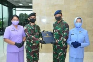 PANGKOSEKHANUDNAS IV RESMI SANDANG PANGKAT MARSEKAL PERTAMA TNI