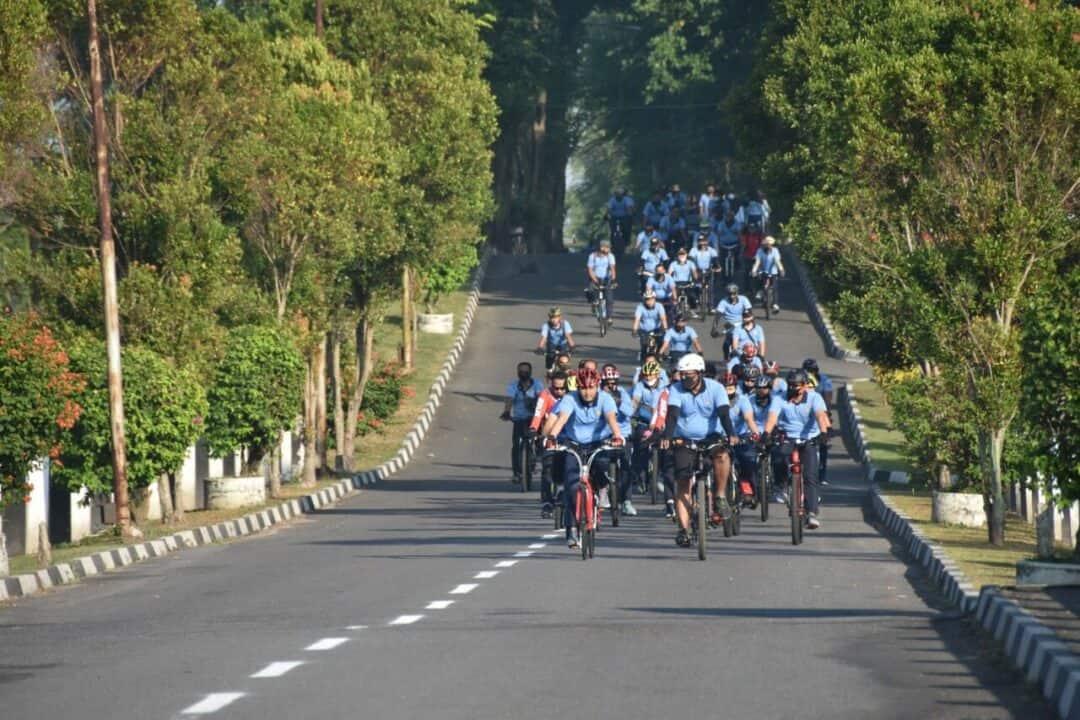 Olahraga bersama sepeda santai digelar Lanud Adisutjipto