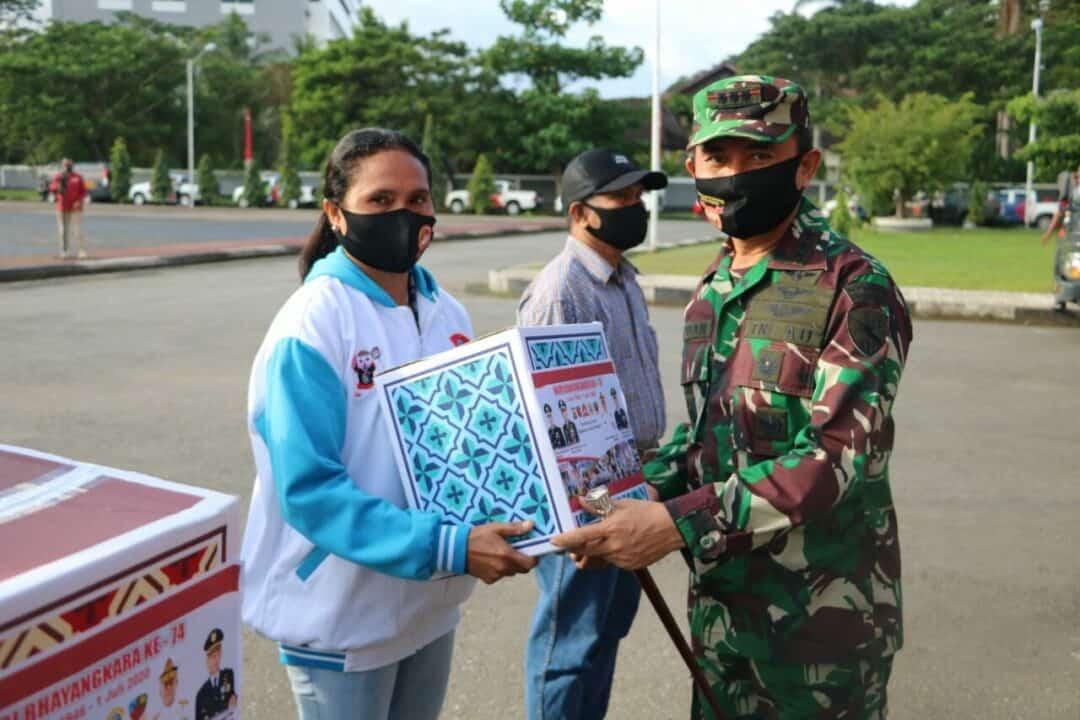Lanud Pattimura Ikuti Upacara Pemberangkatan Baksos Serentak HUT Polri