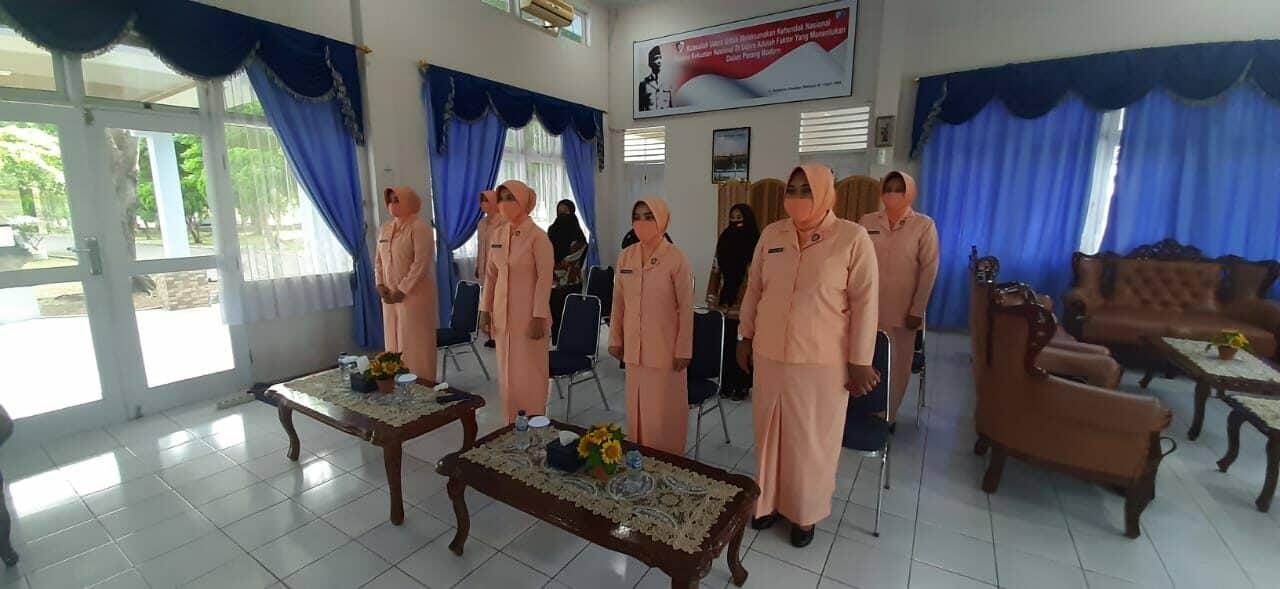 Yasarini Cabang Lanud Maimun Saleh Ikuti Webinar Persiapan Didik Baru Sekolah Angkasa Dalam New Normal.