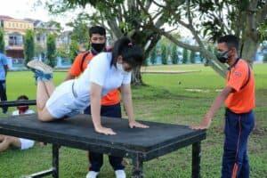 Calon Taruna dan Taruni AAU TA 2020 Panda Lanud Dhomber Laksanakan Tes Samapta.