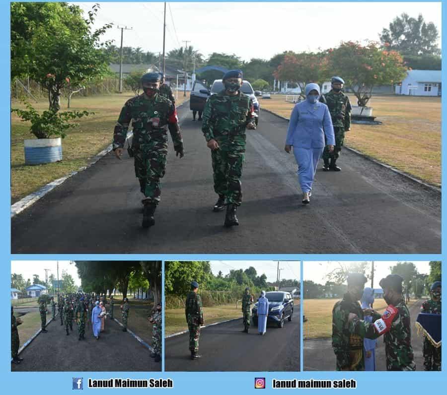 Awali Jabatan Baru, Komandan Lanud Maimun Saleh Disambut Dengan Passing In Keluarga Besar Lanud Maimun Saleh.