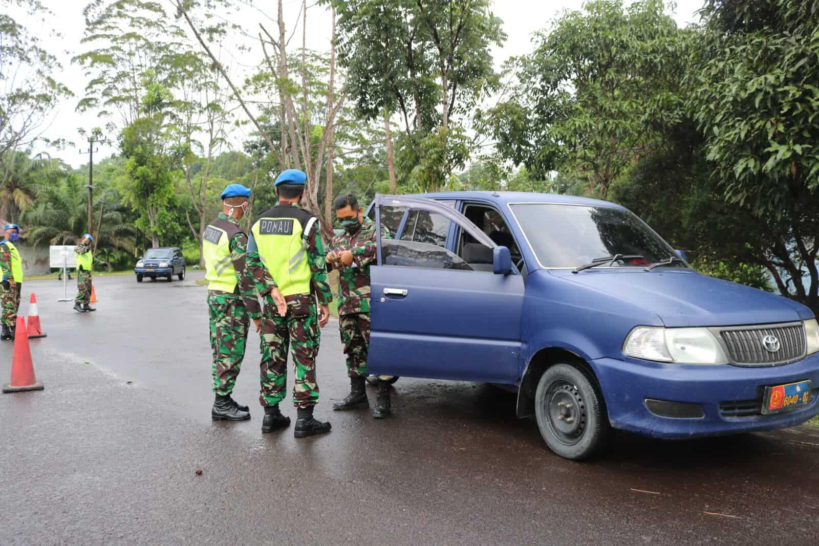 Untuk Meningkatkan Kedisplinan Ketertiban Personel Lanud Iskandar, Satpom Lanud Iskandar Laksanakan Gaktibplin