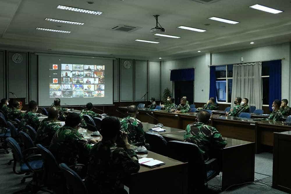 Dankorpaskhas Mengikuti Video Conference Dipimpin Panglima TNI