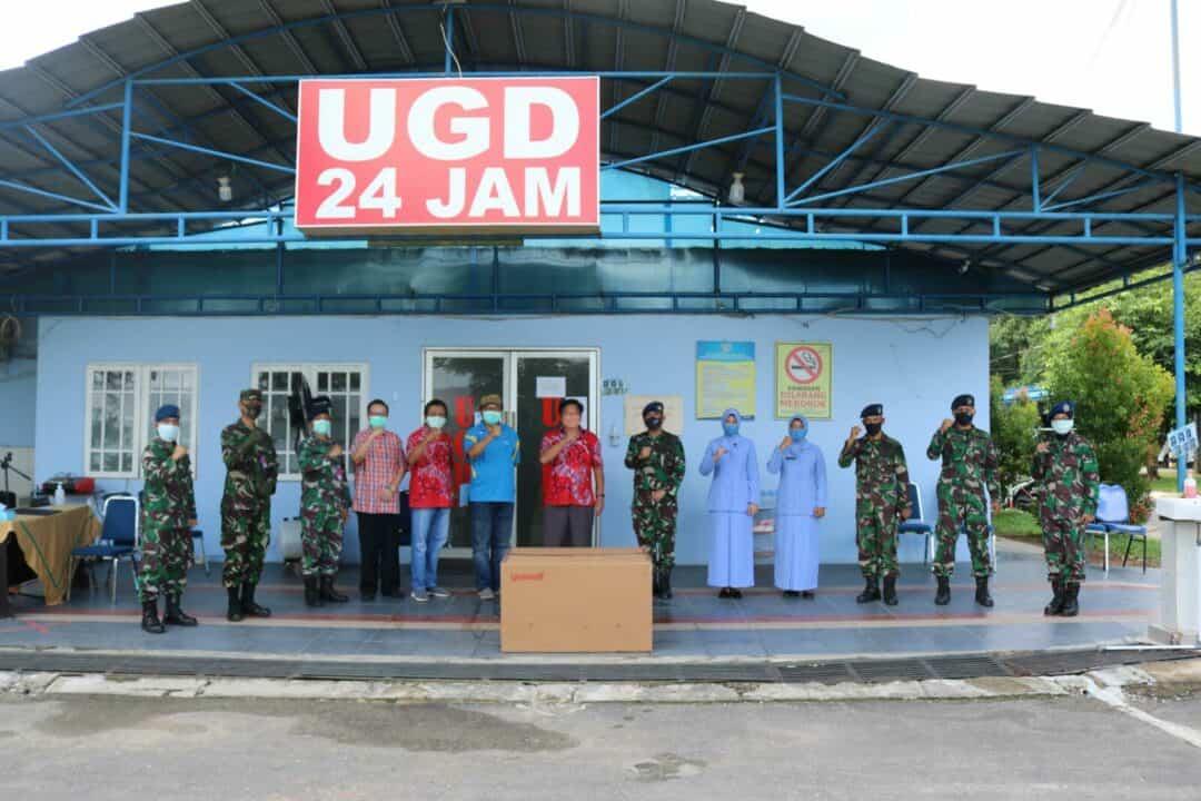 Rumah Sakit Lanud Sjamsudin Noor Terima Bantuan Portable Ventilator