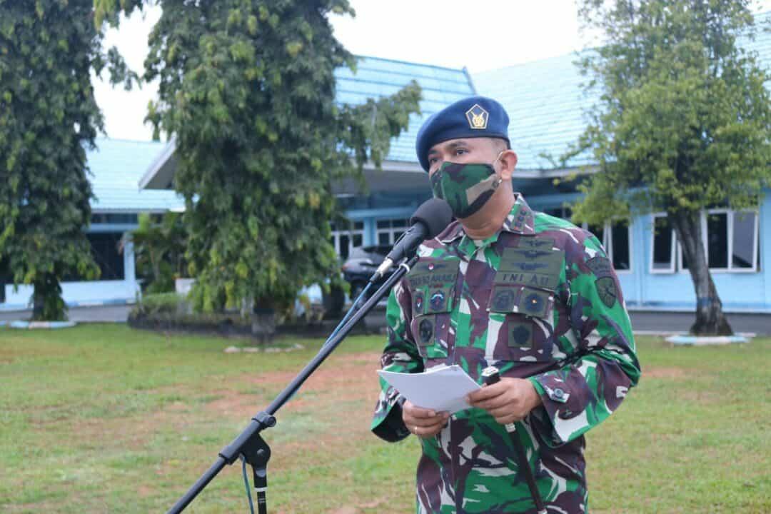 Apel Khusus HUT Koopsau Ke-69 Tahun 2020 di Lanud Sjamsudin Noor