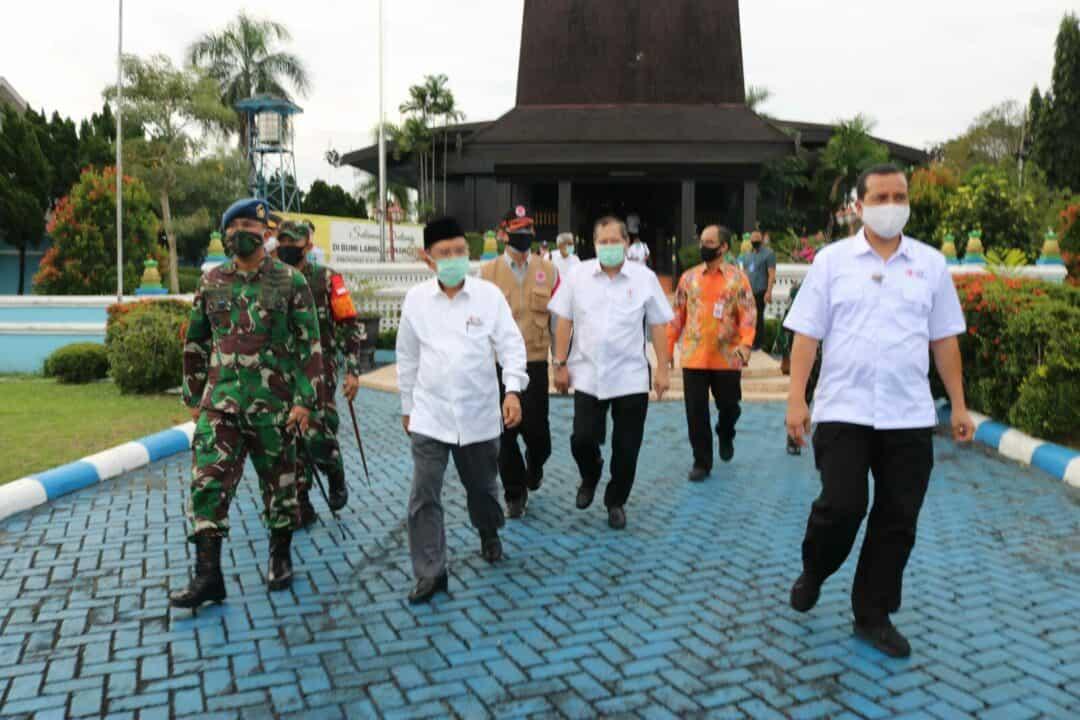Jajaran Forkompimda Kalimantan Selatan Sambut Kedatangan Ketua Umum Palang Merah Indonesia (PMI)