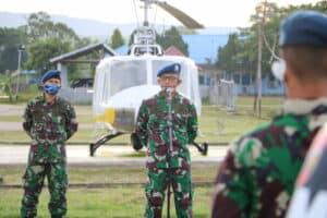 Danlanud SIM Resmikan Monumen Helikopter Bell 204 B Iroquois