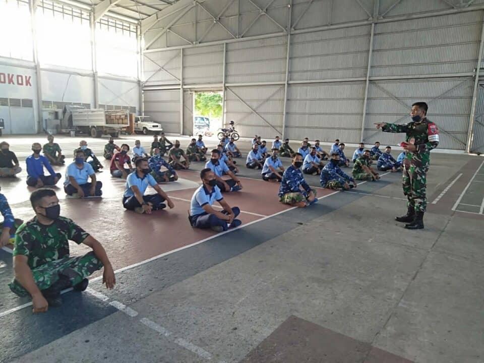 Tingkatkan Kedisiplinan Prajurit, Menjauhi Miras dan Narkoba, Lanud Mus Gelar Sosialisasi Hukum Disiplin dan Melaksanakan Fungsi Bintal Komando.