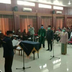 Pelantikan dan Pengambilan Sumpah Jabatan Direksi Perusahaan Daerah Sindangkasih Multi Usaha (SMU) Dihadiri Oleh Komandan Lanud Sugiri Sukani