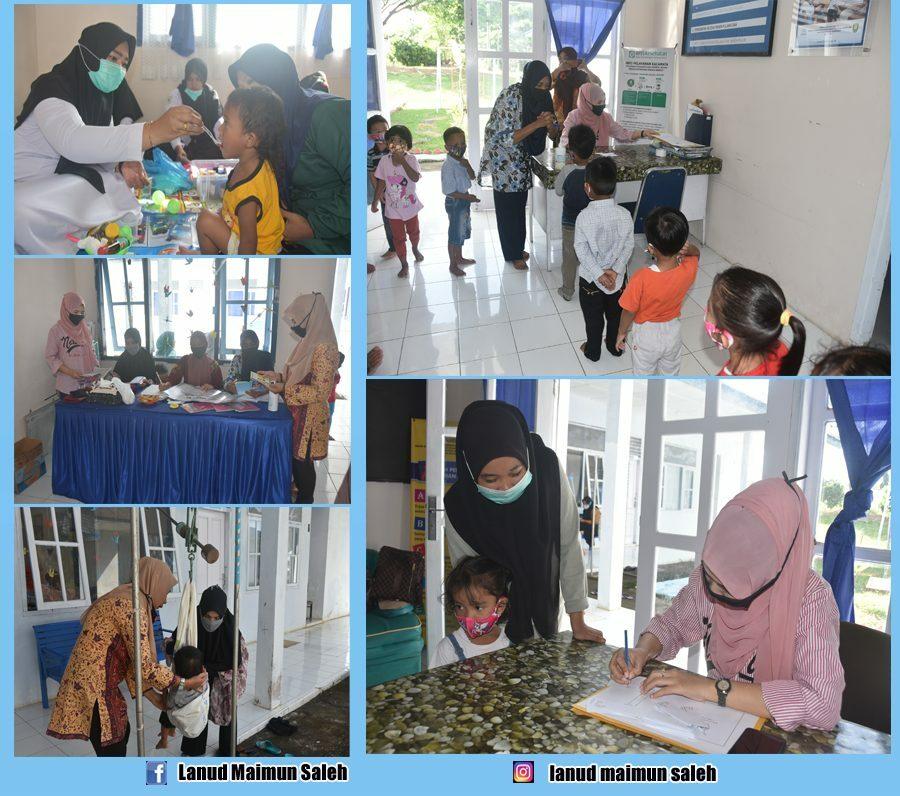 Siekes Lanud Maimun Saleh (Lanud Mus) Adakan Pemberian Vitamin Melalui Gerakan Pos Pelayanan Terpadu (Posyandu).