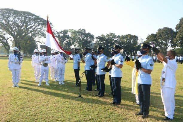 Terapkan Protokol Kesehatan, Komandan Lanud Adi Soemarmo Menutup Pendidikan Semaba PK TNI AU A-45