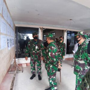 Danlanud RHF Sambut Kunjungan Kerja Pangkogabwilhan I