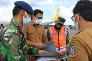 Pasca Lebaran, Lanud RHF Kembali Salurkan 4.500 APD untuk Kepulauan Riau