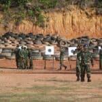 New Normal, Lanud RHF Lanjutkan Kegiatan dengan Latihan Menembak dengan Menerapkan Protokol Kesehatan