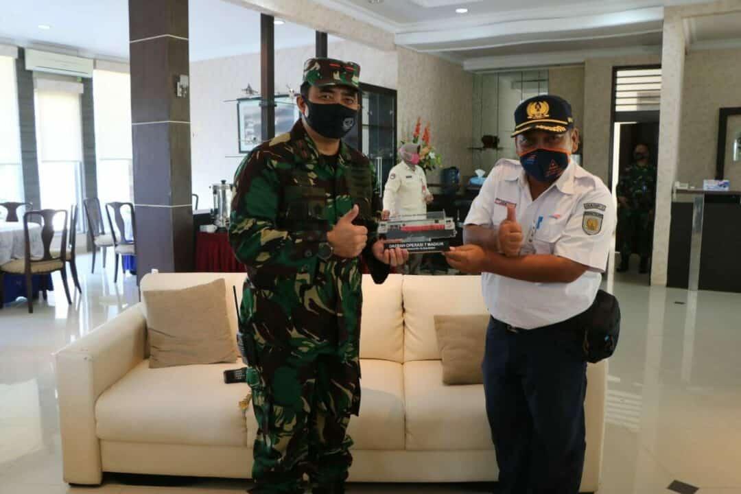 Danlanud Iswahjudi Terima Kunjungan Silaturahmi Kepala PT. KAI Daop VII Madiun.