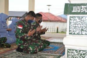 Lanud SIM dan Lanud MUS Tabur Bunga di Makam Maimun Saleh dan Makam Sultan Iskandar Muda
