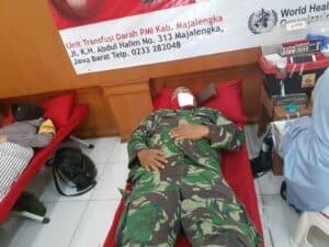 HUT Bhayangkara ke-74, Prajurit Lanud Sugiri Sukani Ikut Menyumbangkan Darahnya