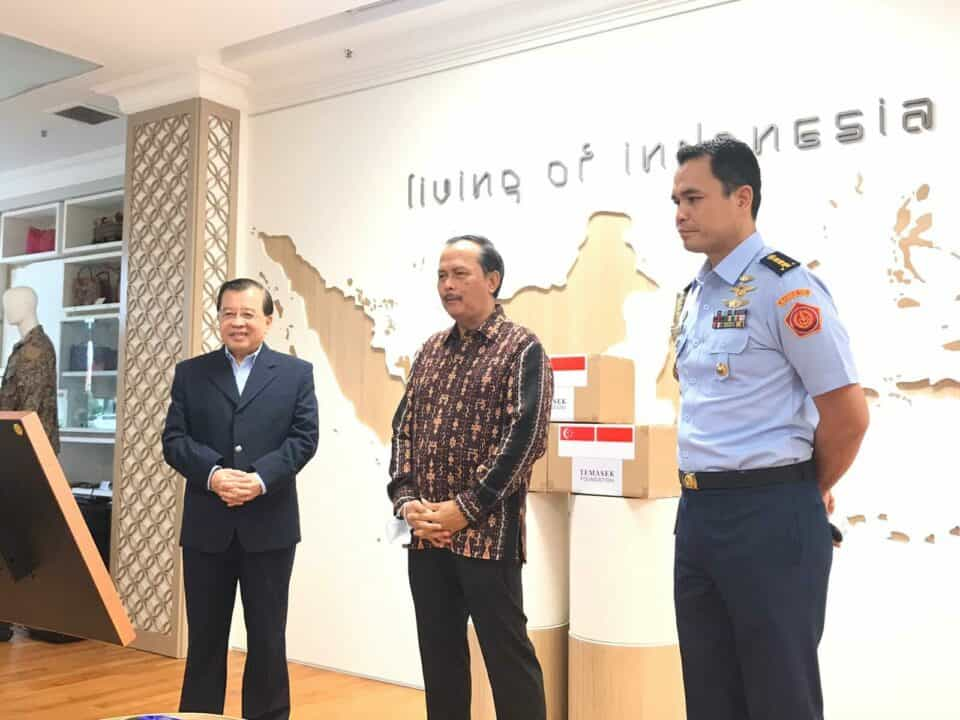 Serah Terima Virtual Bantuan Penanggulangan Covid-19 dari Singapura kepada TNI, Kemendagri dan Provinsi Keppri