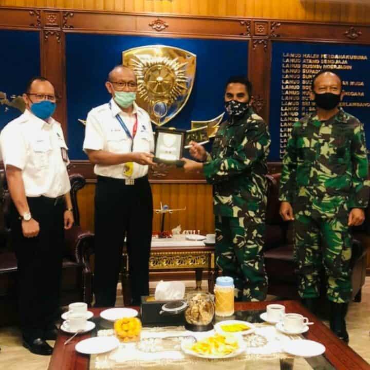 Pererat Silaturahmi Pangkoopsau I Terima Kunjungan Direktur Safety Airnav