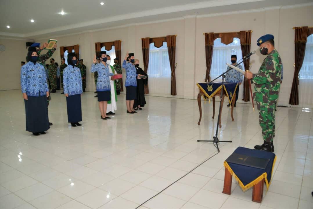 """Danlanud Suryadarma """" Setiap PNS TNI Harus Memiliki Kualitas, Dedikasi dan Loyalitas serta Mentaati Nilai-nilai Etika PNS"""""""