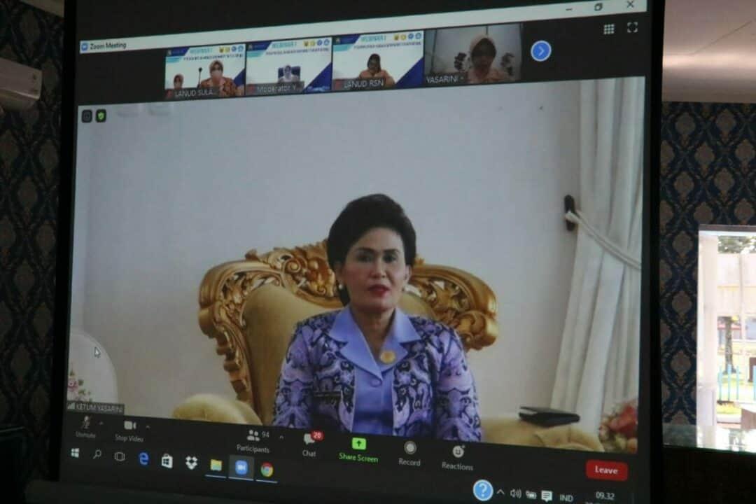 Para Kepala Sekolah Angkasa Lanud Sulaiman Ikuti Webinar Rakerdik