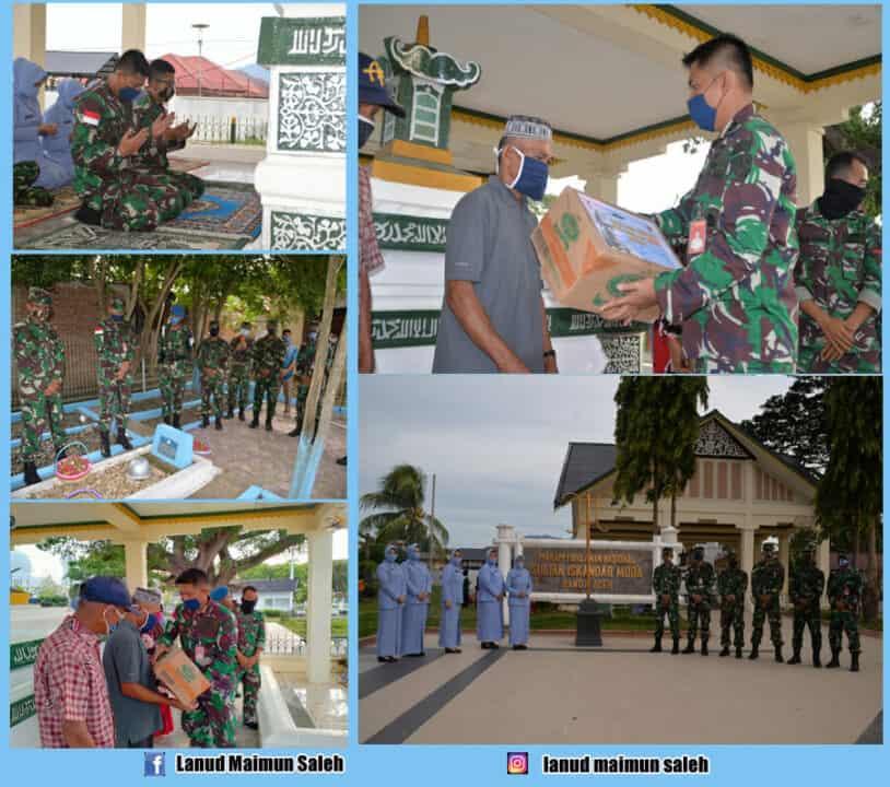 Dalam Rangka HUT Ke- 69 Koopsau, Komandan Lanud Mus ( Pangkalan TNI AU Maimun Saleh) Melaksanakan Ziarah Dan Pemberian Tali Asih.