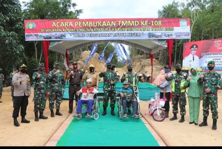 Komandan Lanud Sjamsudin Noor Hadiri Pembukaan TMMD ke-108 Tahun 2020 Di Kalimantan Selatan