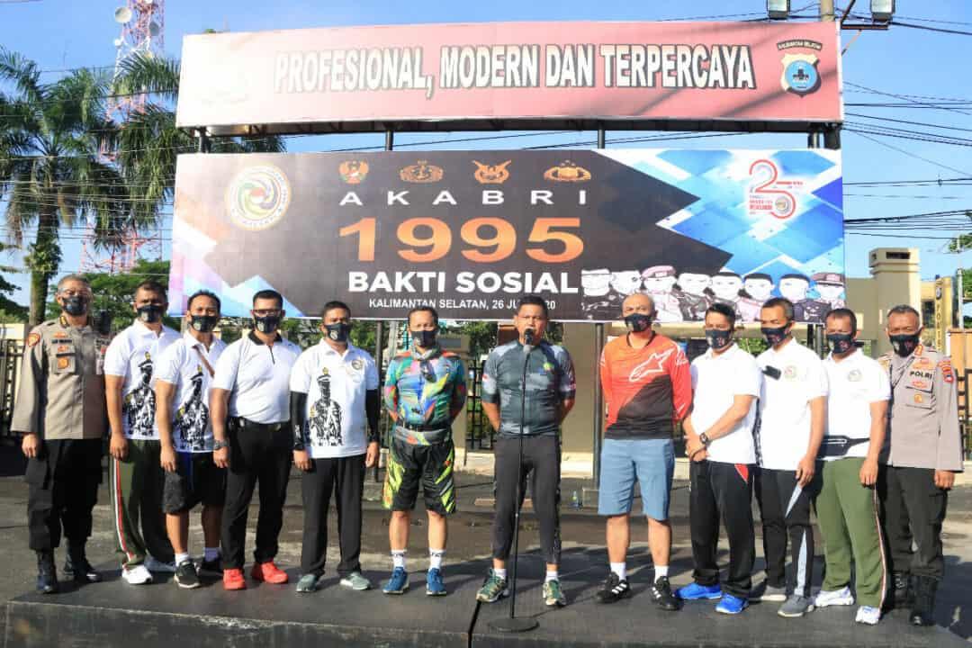 Ulang Tahun Perak Akabri Angkatan 1995 Gelar Bakti Sosial Peduli Covid-19 di Kalimantan Selatan