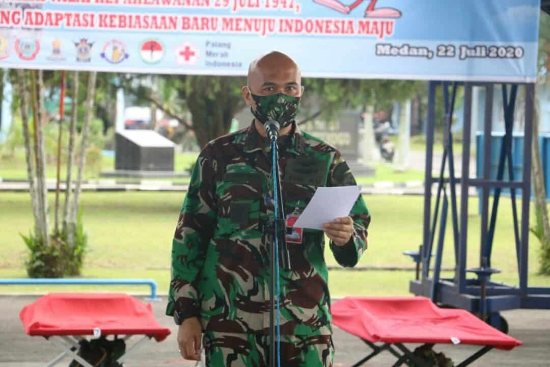 Dalam Rangka Memperingati Hari Bakti TNI AU ke 73, TNI AU di Medan Laksanakan Donor Darah.