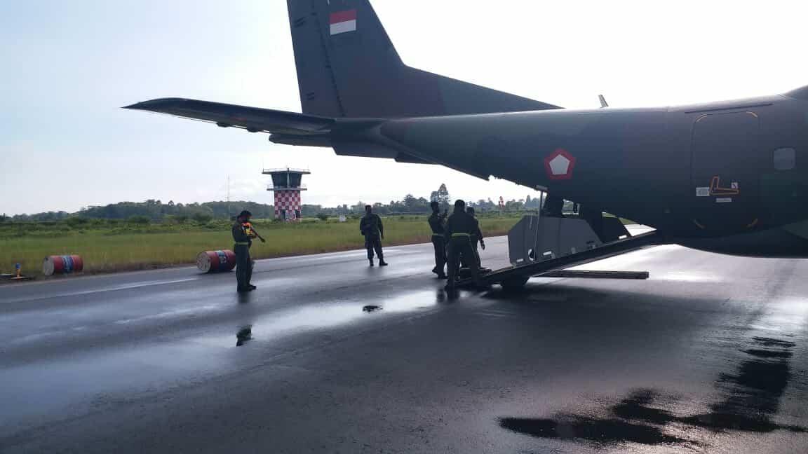 TNI AU Kerahkan Tiga Pesawat untuk Bantu Korban Banjir Masamba Luwu Utara Sulawesi Selatan