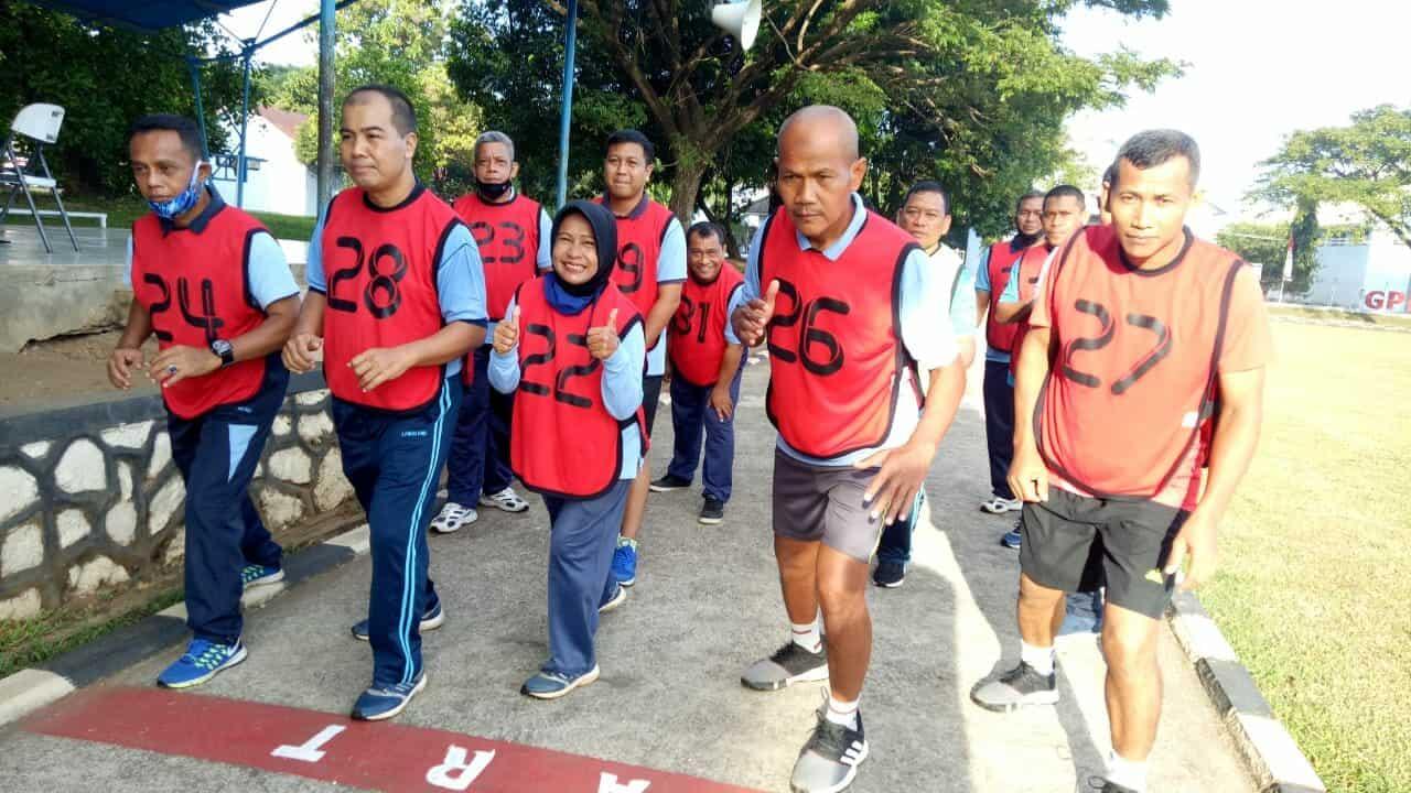 Personel Lanud Sultan Hasanuddin Laksanakan Tes Kesamaptaan Jasmani