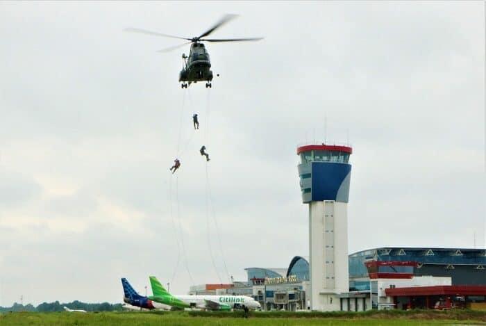 Lanud Supadio Gelar Latihan Search and Rescue (SAR)