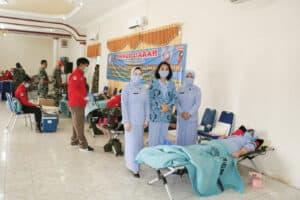 Giat Donor Darah Lanud BNY dengan PMI Kab. Tulang Bawang dalam rangka Hari Bakti TNI AU ke 73