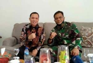Kapen Lanud Rsn Hadiri Pisah sambut Kepala LPP TVRI Riau.
