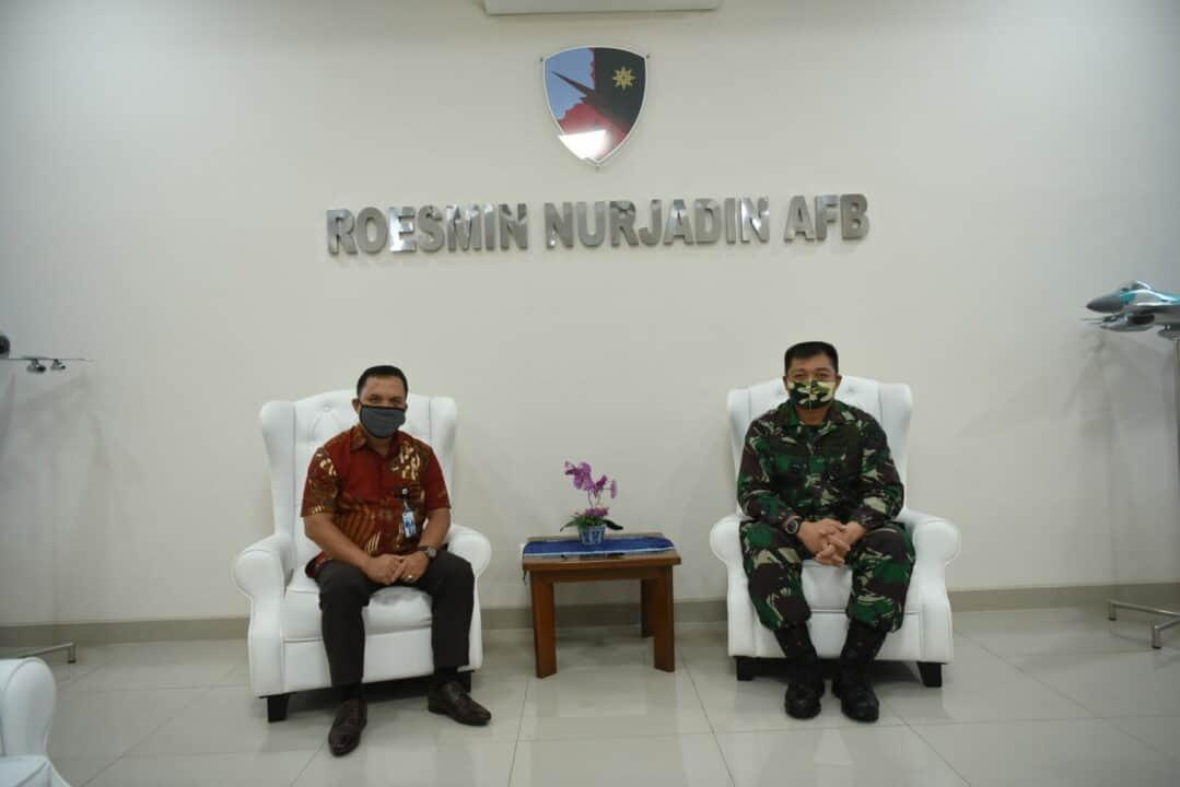 Diakhir Tugas, Danlanud Rsn Dikunjungi Kepala TVRI Riau